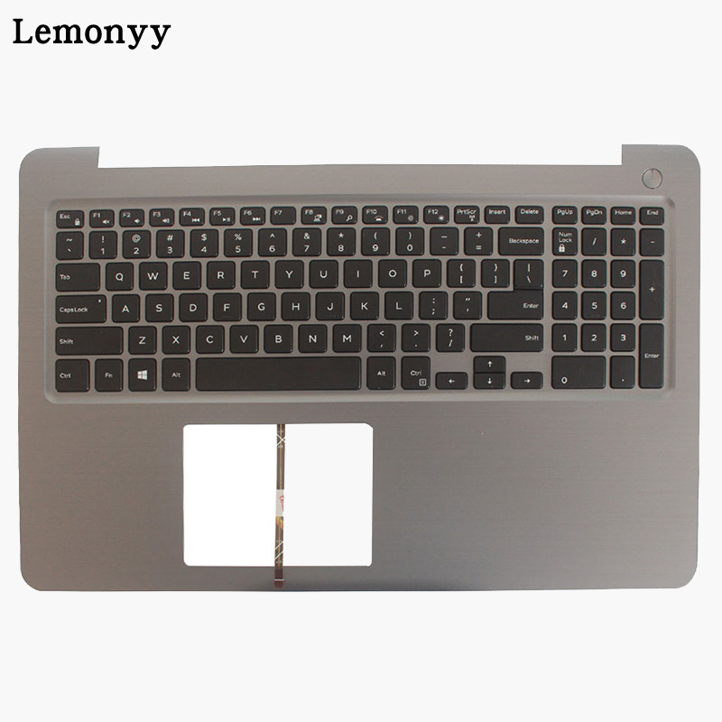 NEW US laptop keyboard for DELL INSPIRON 15 5565 5567 with palmrest upper cover Backlit keyboard backlit us new laptop keyboard for dell inspiron 15 7537 7000 p36f 7537 sliver