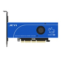JEYI Blue knights SK19 m. 2 NVME NGFF SATA 110mm PCIE3.0 Double Disk Extension Adapter Card Pcie3.0 Gen3 Support M2