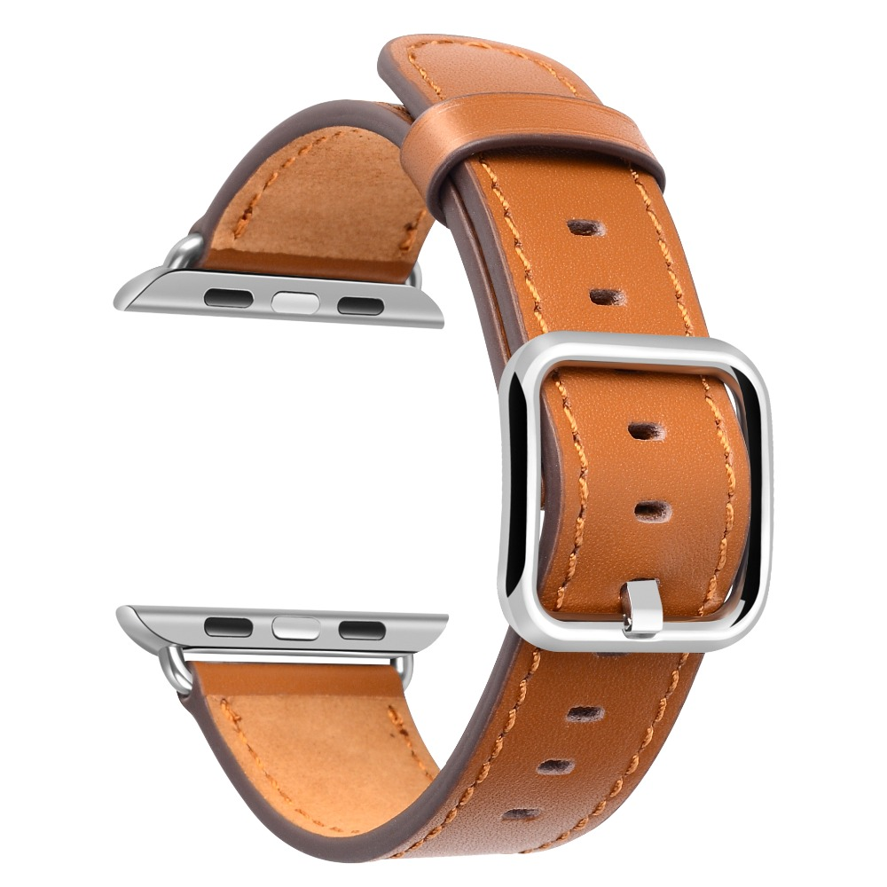 6dd021aec2 Genuine Leather straps for Apple Watch band 38mm 42mm 40mm 44mm Single Tour  hermes For iwatch Series 4 3 2 1 bracelet