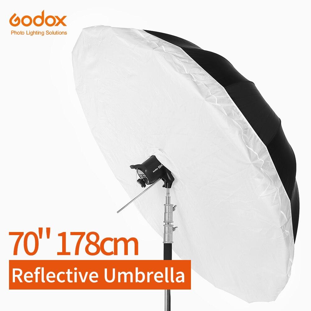 Godox Studio Photogrphy Paraplu 70 inch 178cm Zwart Zilver Reflecterende Paraplu + Grote Diffuser Cover Voor Studio Schieten-in Accessoires voor fotostudio's van Consumentenelektronica op  Groep 1