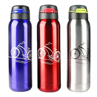 Portable 500ml Stainless Bike Bicycle Outdoor Sports Water Bottles Straw Lip Vacuum Water Bottle Quality Coffee