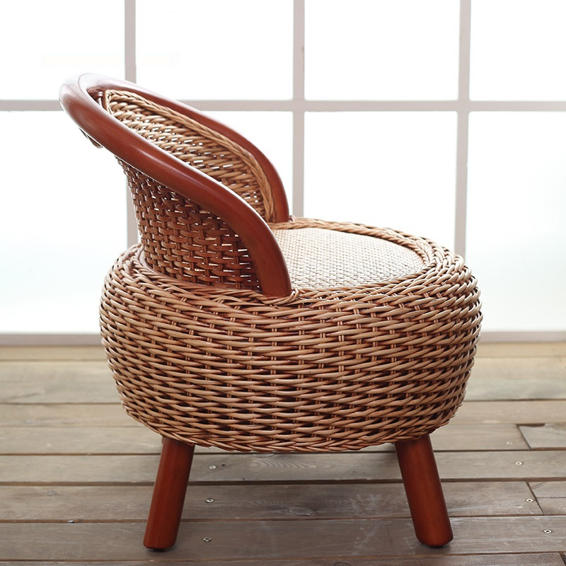 Astonishing Us 110 33 12 Off Reinforced Solid Wood Fashion Chair Handmade Production Rattan Chair Leisure Balcony Chair Living Room Coffee Table Chair In Dining Pabps2019 Chair Design Images Pabps2019Com