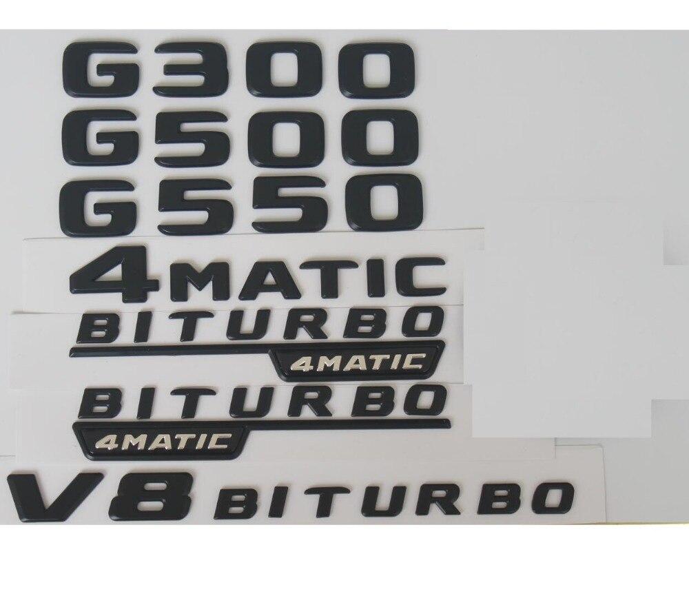 "2018/""C43 4MATIC+AMG+BITURBO/"" Letters Trunk Embl Badge Sticker for Mercedes Benz"