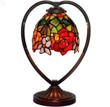 Творческий настольная лампа европейский свадьба украшения витражи спальня прикроватные лампы, Yslc-32, Бесплатная доставка