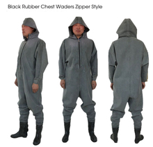 Waterproof Breathable Chest Waders Rubber Fishing Pants Respirant Shoes Rubber Boots Fishing Overalls with Zipper neygu hood