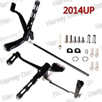 Gloss Black Forward Controls Edge Cut Pegs Levers Linkages For Harley XL 883 1200 2014UP