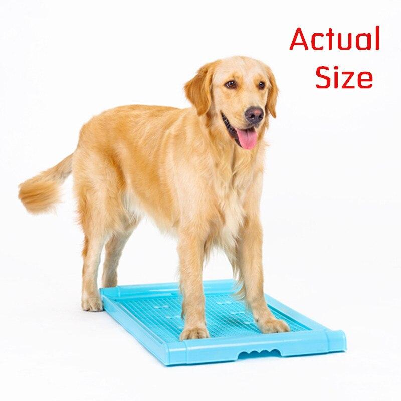 Pet Dog Toilet Supplies Plastic Tray Mat Potty Training Pad ...