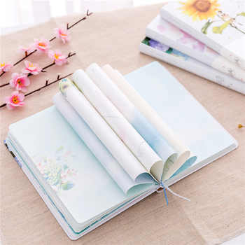 New Creative Small fresh Floral Illustration Notebook Stationery Diary Weekly Planner 32K Journal Sketchbook Agenda - DISCOUNT ITEM  25% OFF All Category
