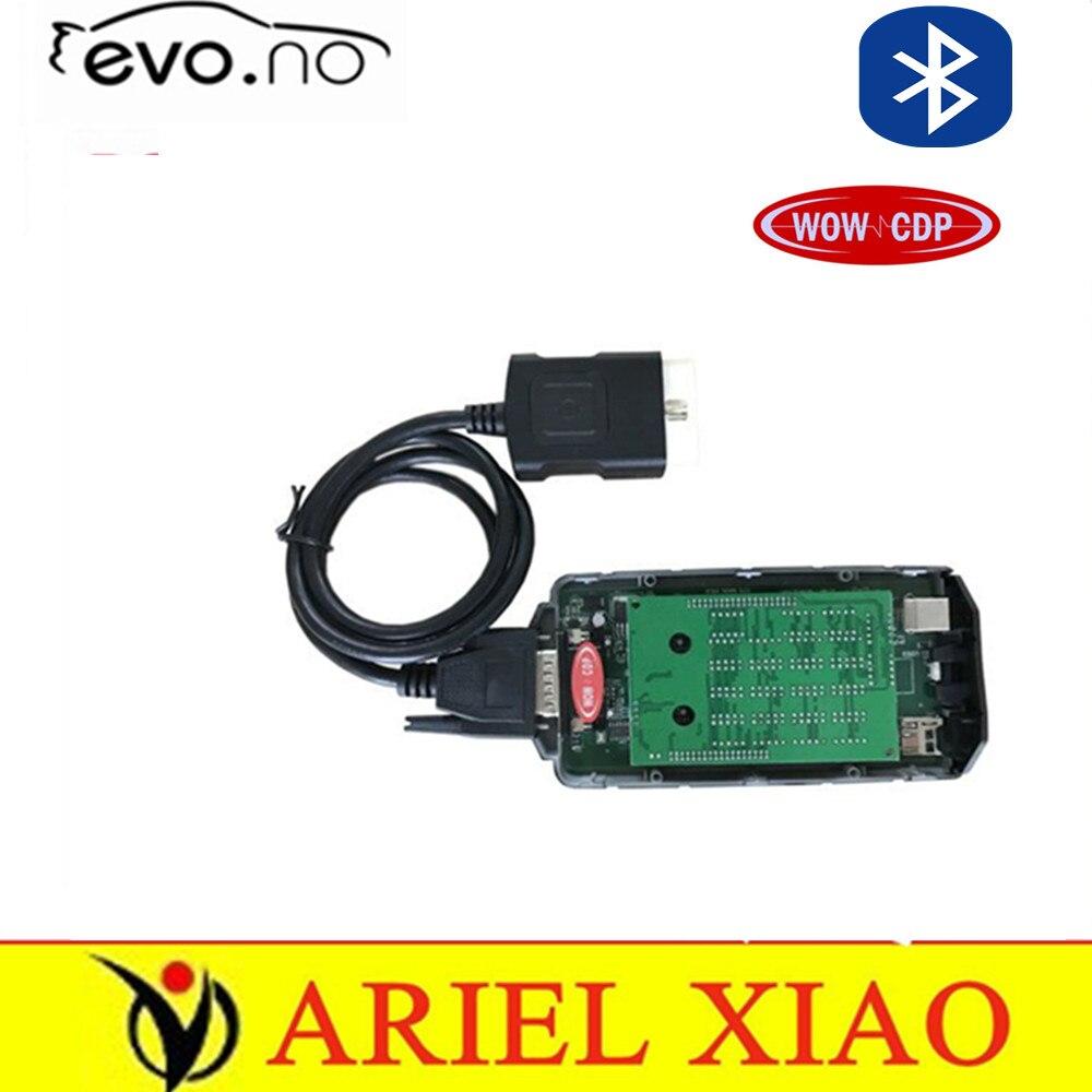 Цена за 2017 Лучше Всего с Bluetooth v5.008R2 keygen WOW snooper cdp pro obd2 диагностический прибор ДЛЯ автомобилей грузовых OBD2 OBDII автоматический диагностический инструмент