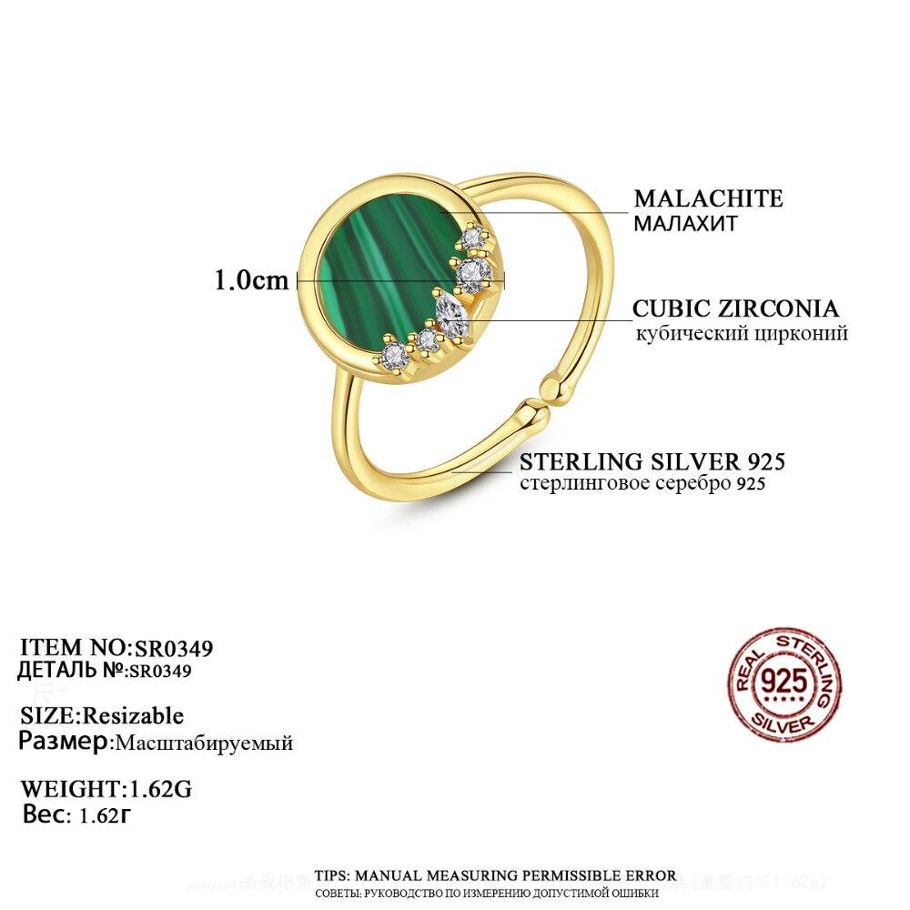Женские кольца из стерлингового серебра 925 пробы CZCITY, красивые украшения для вечеринок, с регулируемым размером, с бирюзой, Anillos Joyeria Fina Para Mujer...