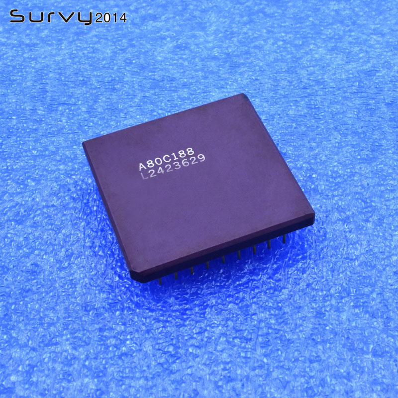 1/5PCS A80C188 PGA 80C188 Golden foot 16-Bit Microprocessor IC1/5PCS A80C188 PGA 80C188 Golden foot 16-Bit Microprocessor IC