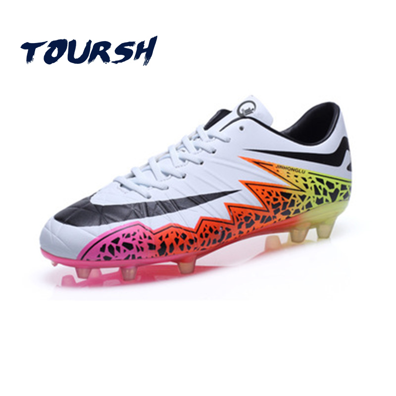 ФОТО TOURSH New Origina Football Shoes Men Long Spikes Soccer Boots Boys Superfly Soccer Shoes Kids Football Shoes Chuteira Futebol
