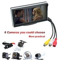 5inch TFT LCD Display Digital Display Windshield LCD Car Monitor For Reversing Backup Camera HD Parking