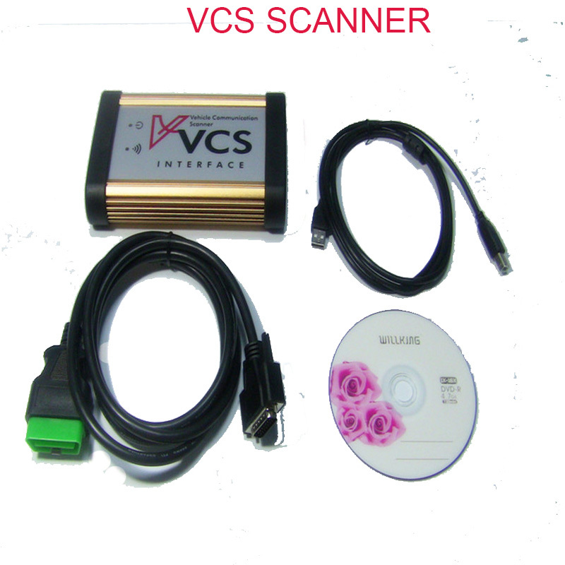 Professional VCS Bluetooth Version Vehicle Communication Scanner VCS Scanner Interface Support Multi Languages Free Shipping