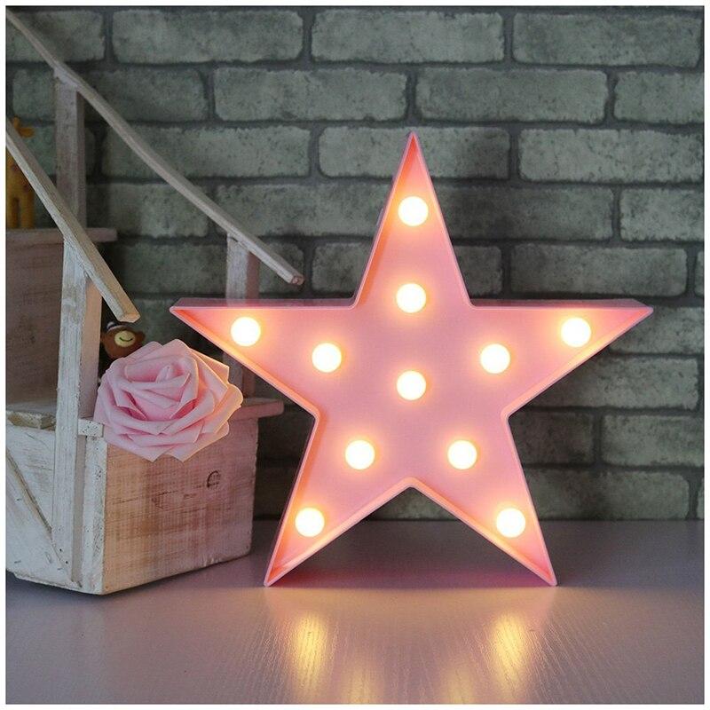 Stars Novelty Star LED Night Light Battery LED Romantic Night Lamp Room Decoration For Home Christmas Decoration Children Gift