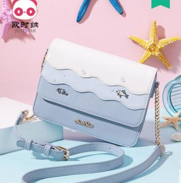цена на Princess sweet lolita Spring and summer fashion Korean version Single Shoulder Bag Satchel clash color chain bag tide 171864