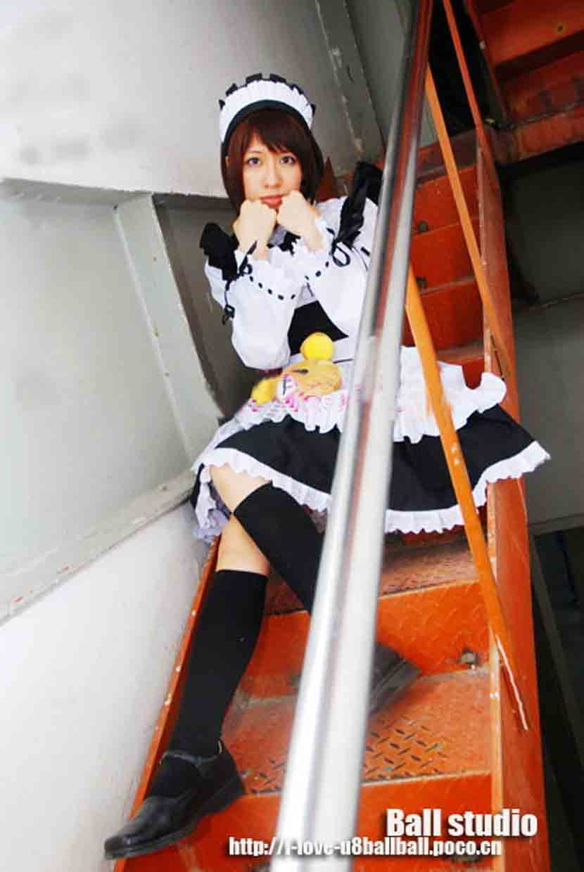 Customize - cute cosplay anime clothes - black and white maid  costumes