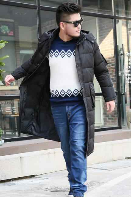 ロングメンズコート冬ロングダウンジャケットコートフード付き男性ダウンジャケットサイズ S-10XL 2018 新ファッション