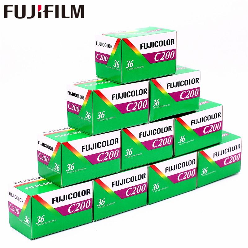 10 Rolls Fujifilm Fujicolor C200 Color 35mm Film 36 Exposure for 135 Format Holga 135 BC