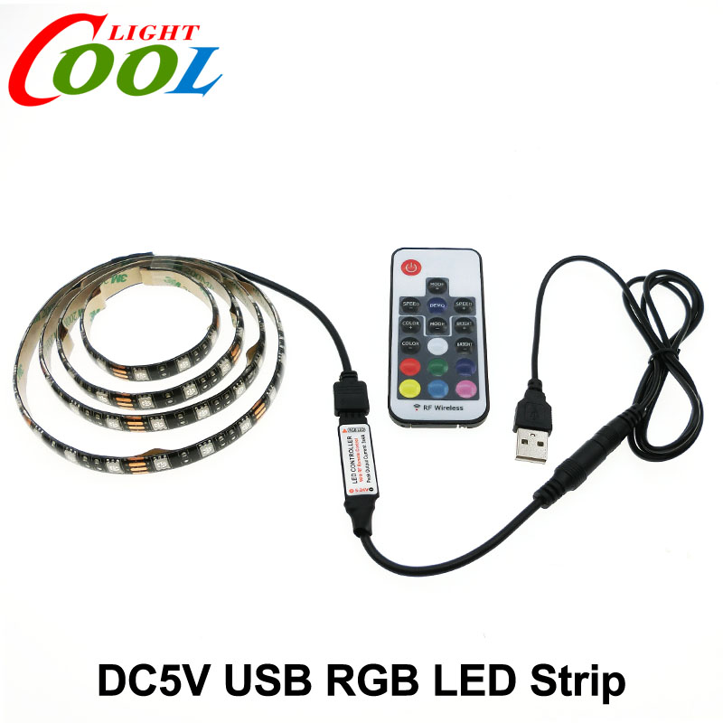 5V font b USB b font LED Strip 5050 RGB TV Background Lighting 60LEDs m with