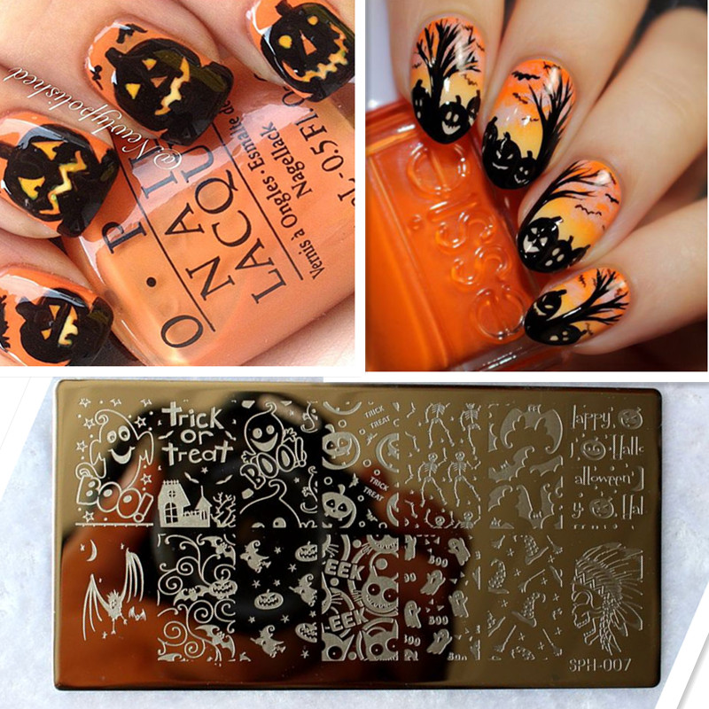 Amazing DIY Halloween Nail Art Ideas Nail Art Stamp Template Image Plate DIY Easy Christmas Nail Art Stamping Tool