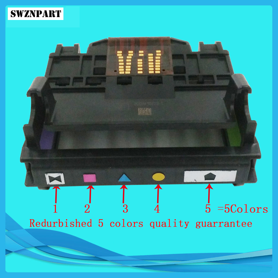 CN642A 564 564XL 5-Slot Printhead Print head for HP 7510 7515 D5460 D7560 B8550 C5370 C5380 C6300 C6380 D5400 D7560 CB326-30002 1x printhead for hp 564 officejet 5648 c5388 c6380 309a printer 4solt cb326 30002