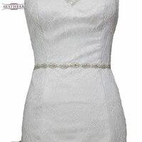 FREE SHIPPING S102 Womens Wedding Sash Elegant Rhinestone Satin Ribbon Bridal Belts Party Bride Bridesmaid Belt Dress Waistband