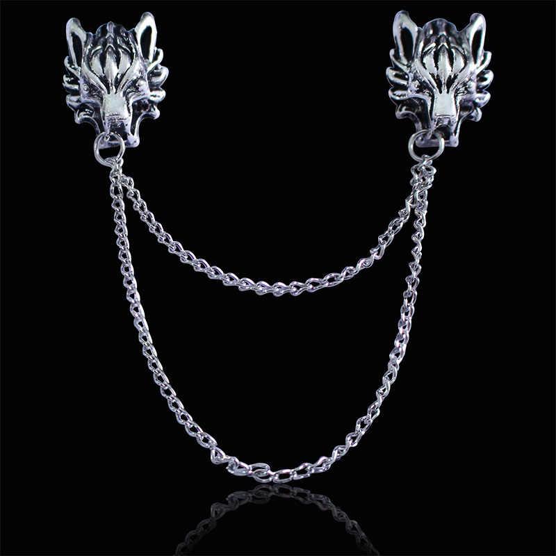 Kepribadian Ledakan Model Bros Retro Dragon Zodiac Pin High-End Kemeja Kerah Pin Suit Kecil Perhiasan Grosir Hot Jual