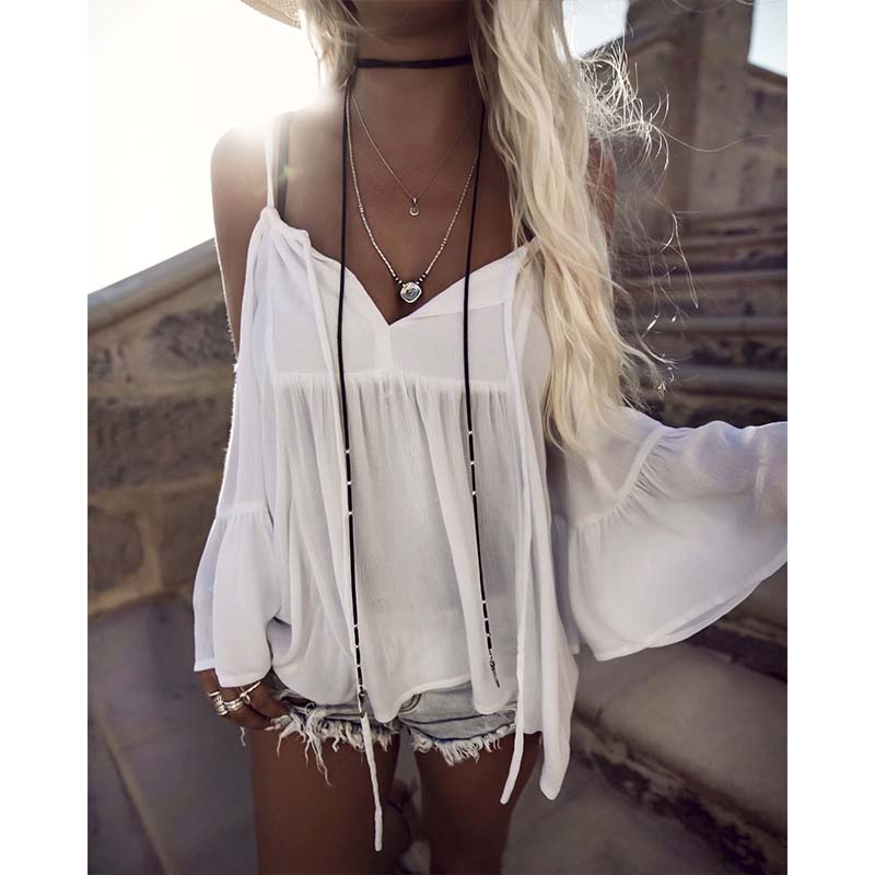 Summer Beachwear 2018 Women Beach Cover Up White Swimwear Pareo Off Sleeve Sexy Bikini Cover Ups V-Neck Bathing Suit Cover Up