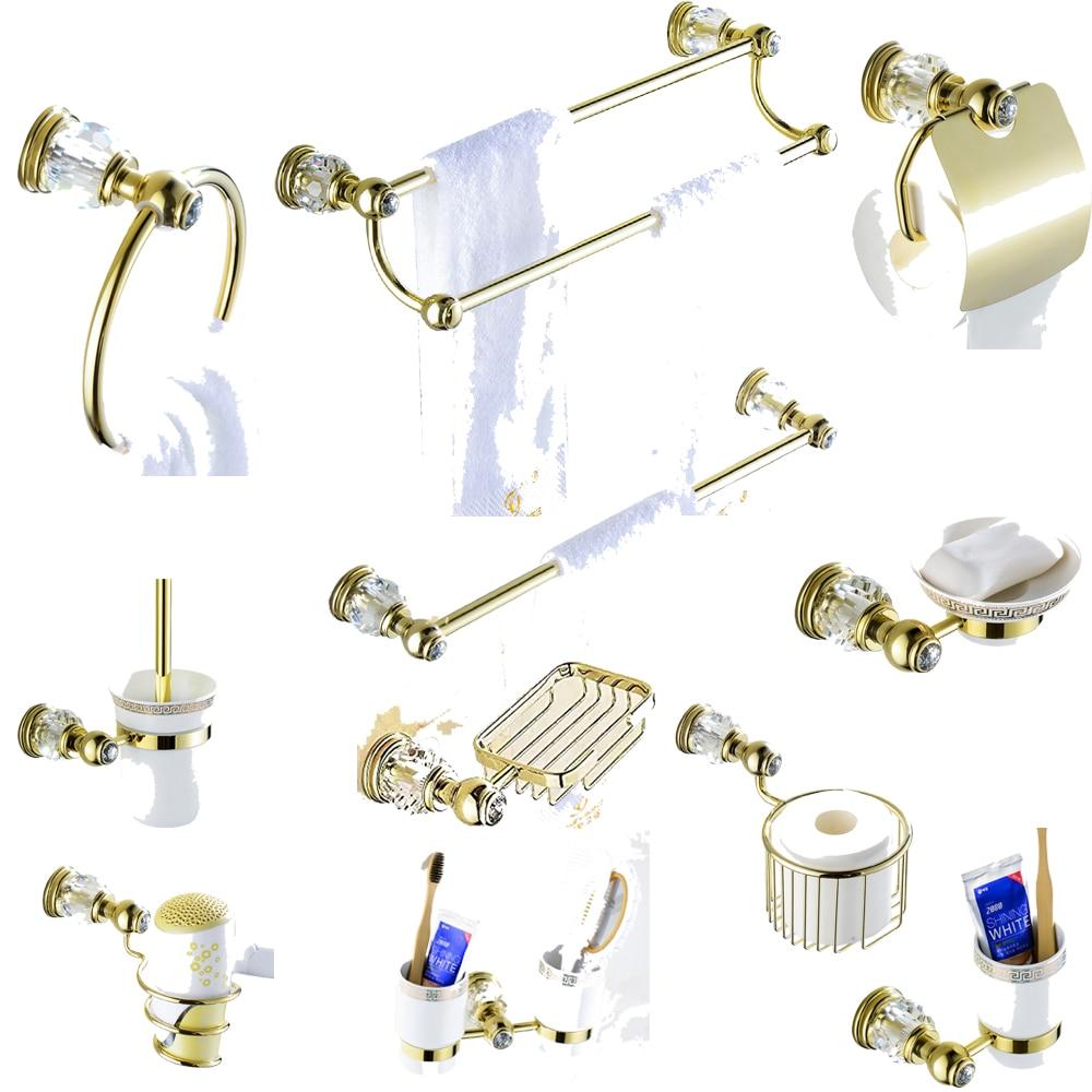 Crystal Bathroom Hardware: Leyden Copper&Crystal Bathroom Hardware Sets Pickaxe Gold