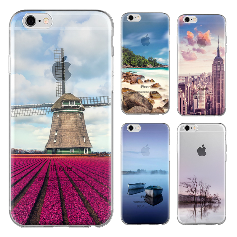 100pcs Scenery Series Phone Case For LG X Cam K580 5.2-inch Cute Cartoon High Quality TPU Soft Silicone Back Cover Shell