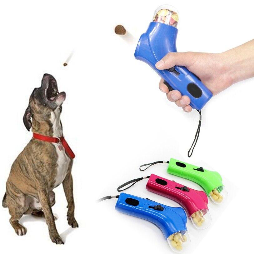 3 Color alimentos para mascotas transmisor catapulta perro Snacks ...