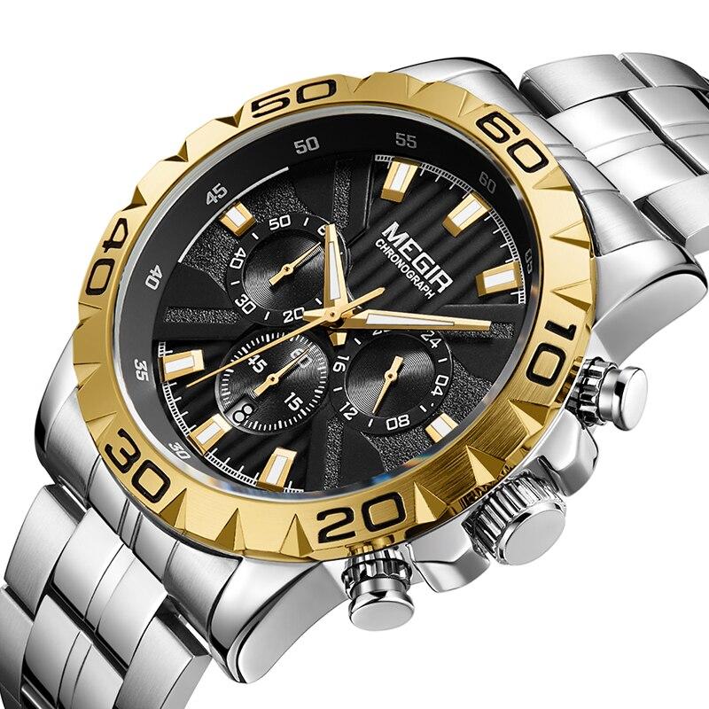 MEGIR montres hommes Top marque de luxe miliplateau Sport montre à Quartz hommes étanche hommes Sport horloge montres Relogio Masculino