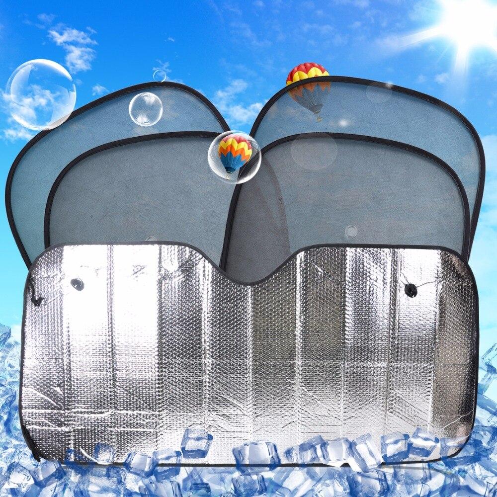 Beler 5 teile / satz faltbare auto vorne hinten windschutzscheibe + seitenscheibe sonnenschutz für audi toyota vw kia bmw nissan huyundai lexus