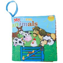 Baby Early Childhood Education Toys, Environmental Cloth Books Hard to torn Poultry animals