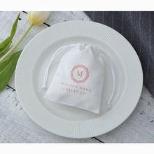 100 белые фланелевые мешки на шнурке индивидуальный логотип