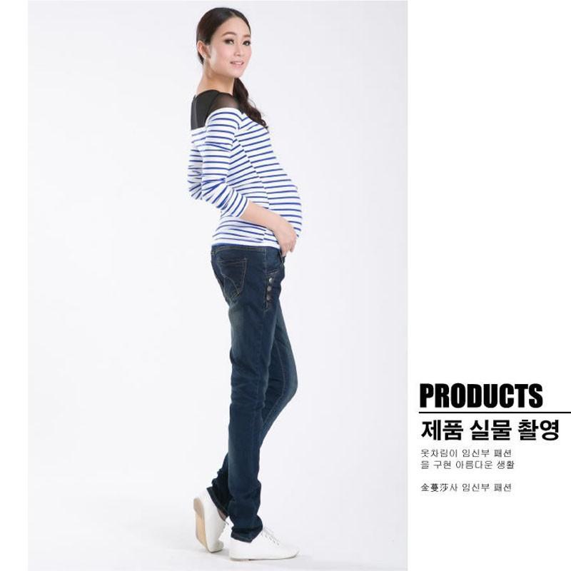 Spodnie Ciążowe jeansowe Spodnie Jeansowe Spodnie Dla Kobiet W Ciąży Ciąża Odzież Laktacja Ropa Para Embarazadas 2017 Ubrania Matki 8