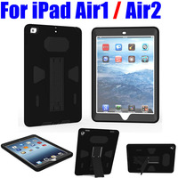 10X Flexible Stand Armor Drop Shock Proof Heavy Duty Silicone TPU PC Hard Case For IPad