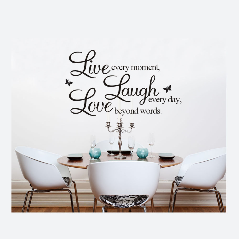 50 70cm english words wall stickers live laugh love for 6 letter word for living room