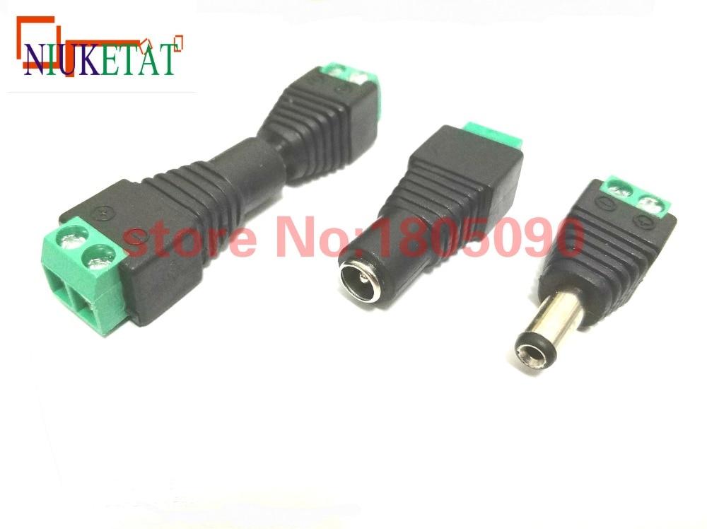 20pcs CCTV Cameras 5.5mm*2.1mm Female Male DC Power Plug Adapter 5.5*2.1mm (10pcs Female + 10pcs male) 5.5x2.1mm DC connector 500pcs 5pin 2 5mm x 0 7mm dc notebook socket female cctv charger power plug diy