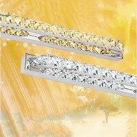 18W 560MM LED mirror light K9 Crystal Bathroom lens headlight stainless steel bathroom mirror lamp AC 85V~265V