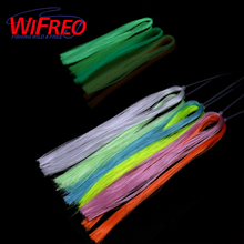 Wifreo 6Bag Fly Tying luminescent minnow fiber EP Glowing Material for Fishing Jig Hook Lures Making UV Luminous Trout Sea Rig
