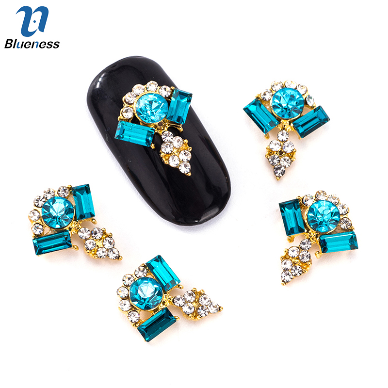 Blueness 10Pcs DIY 3 Colors Gem Rhinestone For Nail Art Decorations Design Charms Alloy Manicure Jewelry Diamond Accessories 24pcs lot 3d nail stickers decal beauty summer styles design nail art charms manicure bronzing vintage decals decorations tools