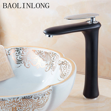 купить Baking Finish Brass Deck Mount Bathroom Faucets Vanity Vessel Sinks Crane Mixer Basin faucet Tap дешево