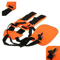 Safety Orange Professional Double Shoulder Strap String Trimmer Brush Cutter Harness Belt Carry Hook Garden