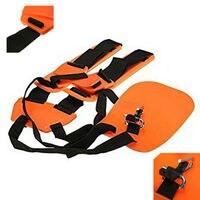 Safety Orange Professional Double Shoulder Strap String Trimmer Brush Cutter Harness Belt Carry Hook Garden