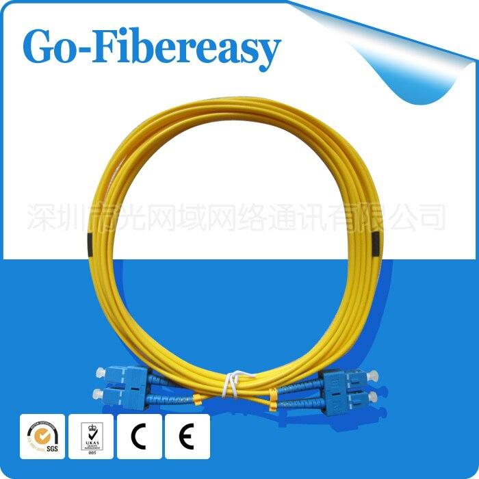 5pcs/lot 5Meters Fiber Optic Cable/Patch Cord SC/UPC to SC/UPC Duplex Fiber,SM 9/125um PVC cable