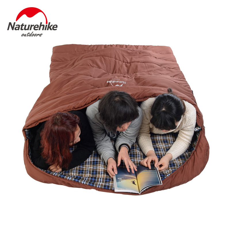 Naturehike 3 Person Family Sleeping Bag Cotton Travel Outdoor Camping Bags Large Capacity Nh16s016 S In From Sports Entertainment