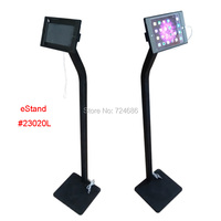 for mini iPad floor display kiosk stand with charging cable on shop hotel trade fair exhibition standing support advertising