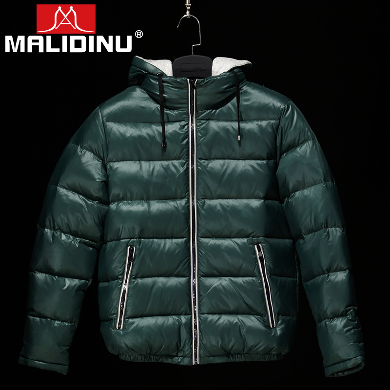 MALIDINU 2019 New Men Down Jacket Winter Down Coat 70%White Duck Down Men Down Jacket Winter Hooded Thick Warm Coat Jackets -30C